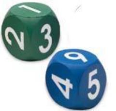 """Foam 2"""" D6 w/Numbers (2)"""