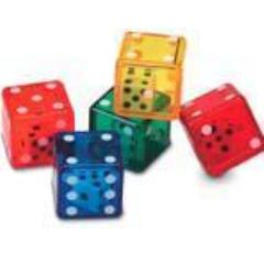 D6 Double Dice - Assorted (6)
