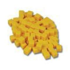 10mm Plastic Cubes - Yellow