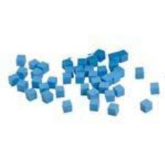 10mm Plastic Cubes - Blue
