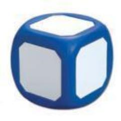 """Dry-Erase 4"""" D6 - Magnetic, Blue"""