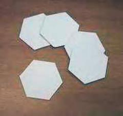 Cardboard Hexagon Tiles - 45mm