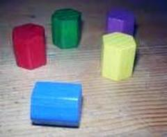 15mm Wooden Hexagon Cylinders - Assorted Colors