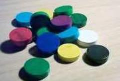 25mm Wooden Discs - Assorted Colors