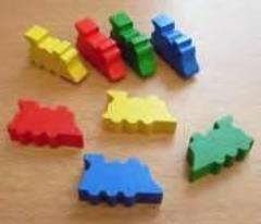 32mm Wooden Trains - Assorted Colors