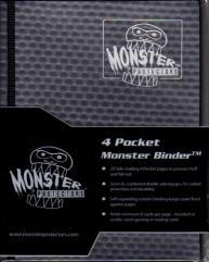Monster Binder - 4 Pocket Pages, Holofoil Black