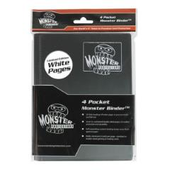 Monster Binder - 4 Pocket Pages, Matte Black w/White Pages (Limited Edition)
