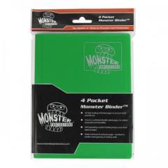 Monster Binder - 4 Pocket Pages, Matte Emerald Green