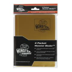 Monster Binder - 4 Pocket Pages, Matte Gold