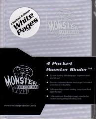 Monster Binder - 4 Pocket Pages, Holofoil White