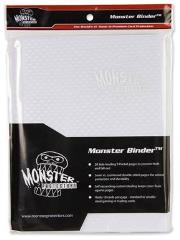 Monster Binder - 9 Pocket Pages, Holofoil White w/White Pages