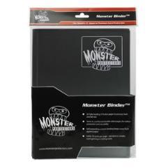 Monster Binder - 9 Pocket Pages, Matte Black w/White Pages