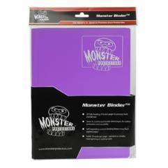 Monster Binder - 9 Pocket Pages, Matte Coral Purple
