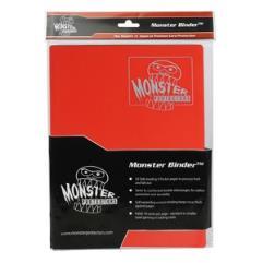Monster Binder - 9 Pocket Pages, Matte Red