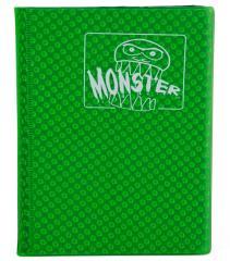 Monster Binder - 4 Pocket Pages, Holofoil Green