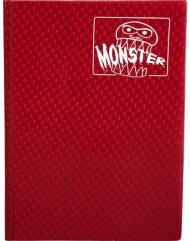 Monster Binder - 4 Pocket Pages, Holofoil Red