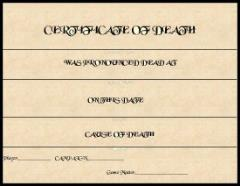 Certificate of Death (10)