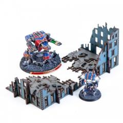 Destroyed Micro Scale Arcade Hab Block