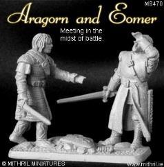 Aragorn & Eomer Meet in the Midst of Battle