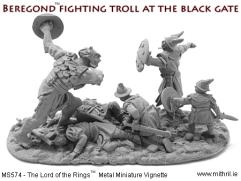 Beregond Fighting Troll at the Black Gate