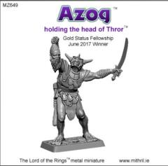 Azog Holding the Head of Thror