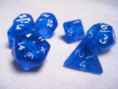 Mini Poly Set Blue w/White (7)