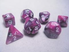 Mini Poly Set Pink & Black w/White (7)