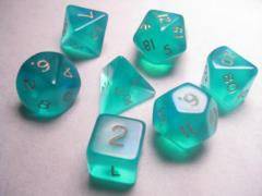Poly Set Teal w/Gold (7)