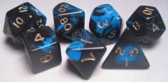 Poly Set Blue w/Gold (7)