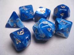 Poly Set Blue w/Gold (7)