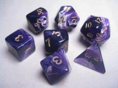 Poly Set Purple w/Gold (7)