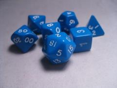 Poly Set Blue w/White (7)