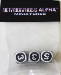 Metamorphosis Alpha Metal Dice Set (Kickstarter Exclusive)