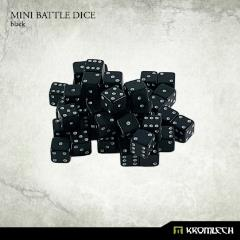 d6 Black w/White - Mini Battle Dice (50)