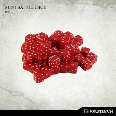 d6 Red w/White - Mini Battle Dice (50)