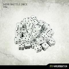 d6 White w/Black - Mini Battle Dice (50)