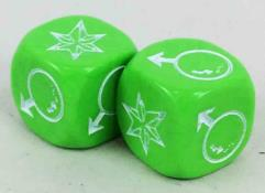 Hero Dice - Martian Manhunter/Star Sapphire, Green