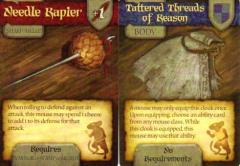 Mice and Mystics Promo Cards - Needle Rapier & Tattered Threads of Reason