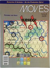 """#93 """"Krieg!, China War Variant - The East in Shreds w/Counters"""""""