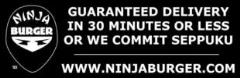 Ninja Burger Bumper Sticker