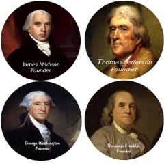 Coaster Set - Founding Fathers