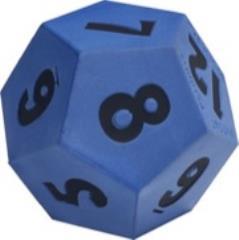 """Foam 4"""" D12 - Blue"""