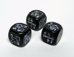 Specialist Dice - Black w/White (3)