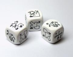 Specialist Dice - White w/Black (3)