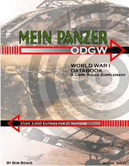 Mein Panzer - World War I Data Book