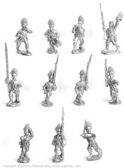 British Grenadiers Marching/Attacking w/Command