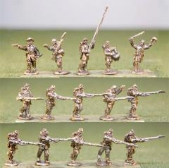 Infantry - Charging w/Level Muskets & Command