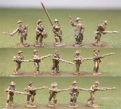 Infantry - Charging w/Blanket Rolls, Level Muskets & Command