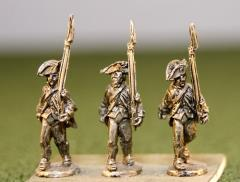 Continentals in Regimental Coats, Cocked Hats, Advancing Shoulder Arms