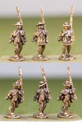 Continentals in Rifle Shirts, Round Hats, Advancing Shoulder Arms